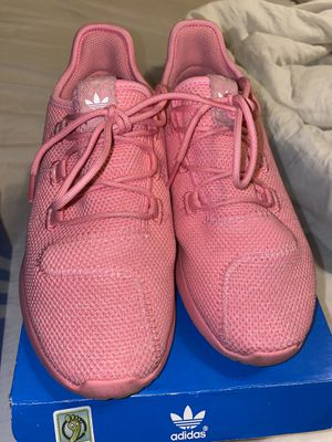 Adidas pink tubulars size 3 in girls for Sale in San Antonio, TX