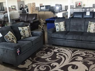 Beautiful Grey Love Seat And Sofa Set!! Take It Home Today!! $49 Down!! for Sale in Dallas,  TX