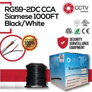 RG59 Siamese Cable 1000FT ETL CCS for Sale in Hialeah, FL