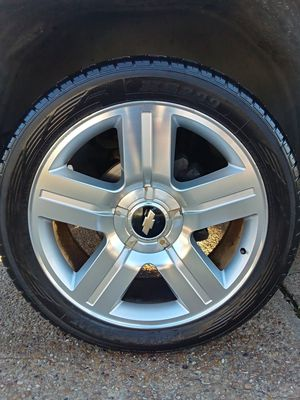 Rims and tires. Texas edition 305/40/22- 3. Tires 80% life 1 tire 50 % 1 rim have little scrach for Sale in Irving, TX