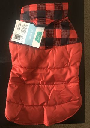 Red puffer coat for MEDIUM size dog for Sale in Hampton, VA
