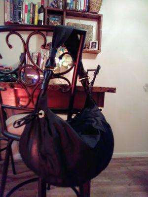 KATE SPADE Black Leather & Nylon Slouchy Hobo Shoulder Bag Purse for Sale in Phoenix, AZ