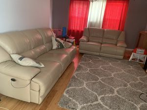 Leather power reclining sofa & loveseat for Sale in Queens, NY