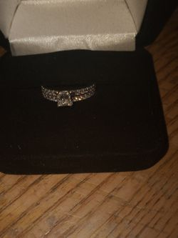 14 kt White Gold Princess Cut Diamond One Ring Is 5/8 Ct Diamond The Other One Is 1/4 Ct for Sale in Chicago,  IL