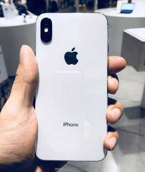 iPhone X Silver - unlocked for any carrier for Sale in Providence, RI