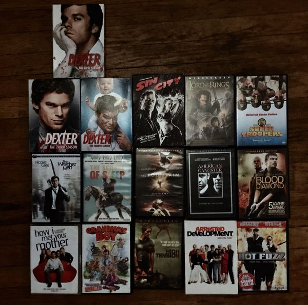 An eclectic mix of DVDs
