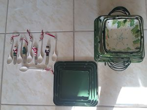 Christmas tableware set... for Sale in Cape Coral, FL