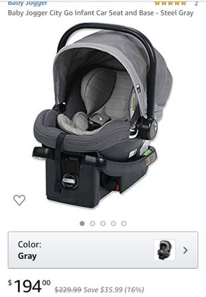 Baby jogger city go infant car seat and base for Sale in Irving, TX