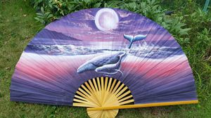 5 Ft.wide Whale Fan Hand painted for Sale in Detroit, MI