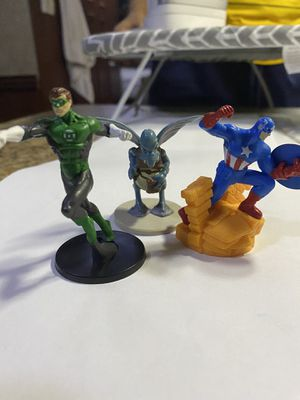 "Lot Of 3 Action Figures Green Lantern, Captain America, Star Wars 3"" for Sale in Fayetteville, NC"