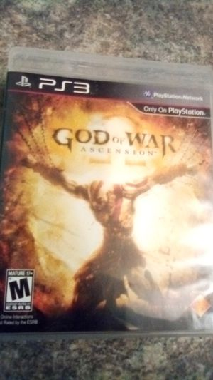 God of War Ascension PS3 By Sony. for Sale in Burleson, TX