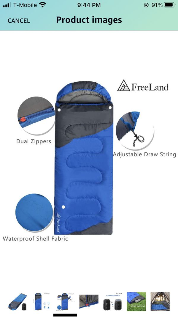 Sleeping bag camping outdoor compact waterproof