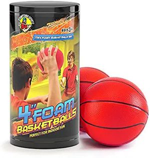 Stumptown Sportz Foam Basketball for Kids and Indoor Play - Set Includes 2 Basketballs 4in - Compatible with Most Major Mini Basketball Hoop Brands for Sale in Hawthorne, CA
