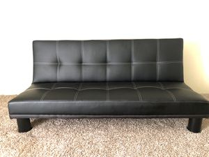 Leather futon for Sale in Bryan, TX
