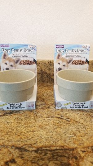 Happy Home Dog Crate Bowls for Sale in Henderson, NV