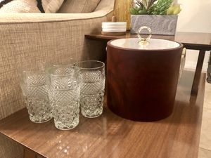Ice Bucket and Glassware for Sale in Tampa, FL
