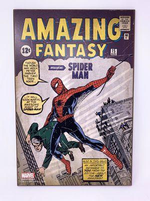 Wooden plaque Spider-Man Comic Amazing Fantasy for Sale in Anaheim, CA