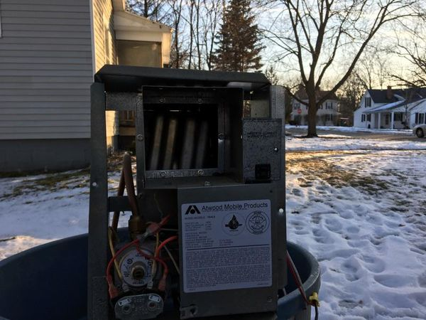 Gas furnace from camper