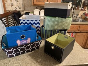 7 storage boxes, great condition. $12.00 for Sale in Rogers, AR
