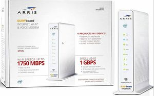 ARRIS SURFboard SVG2482AC DOCSIS 3.0 Cable Modem & AC1750 Dual-Band WiFi Router for Sale in Granite Falls, WA