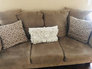 Taupe Microsuede Couch for Sale in Murrieta, CA