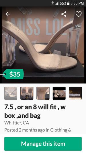 Miss lola heels size 7.5 will fit an 8 for Sale in Whittier, CA