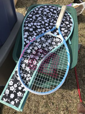 Children's tennis racket with cover for Sale in Marlborough, MA