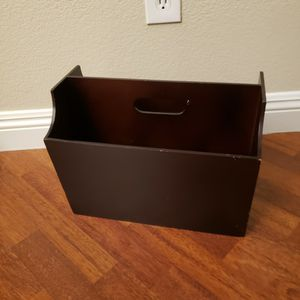 """Storage Magazine Rack Container 11"""" H x 14 1/2"""" W x 9 1/2"""" D for Sale in Henderson, NV"""