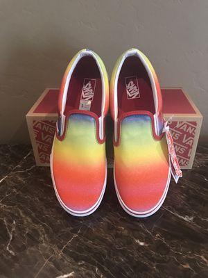 Vans Rainbow Glitter Slip On Skate Shoes for Sale in AZ, US