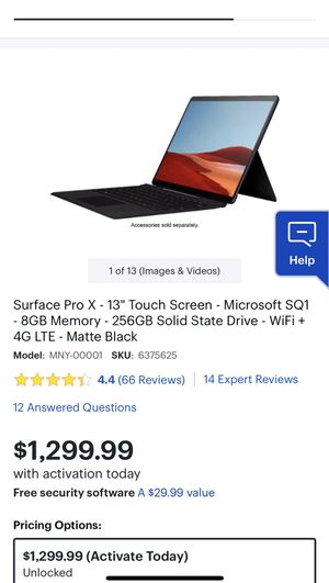 SURFACE PRO X - 13 for Sale in Hyde Park, OH