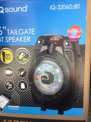 Portable bt tailgate USB sd rechargeable speaker for Sale in San Francisco, CA