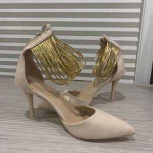 Beige Ankle Strap Heels for Sale in Fairfax, VA
