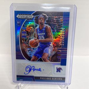 2020-21 Panini Prizm Draft Picks Precious Achiuwa Blue Prizm Auto RC #143/149 for Sale in West Covina, CA