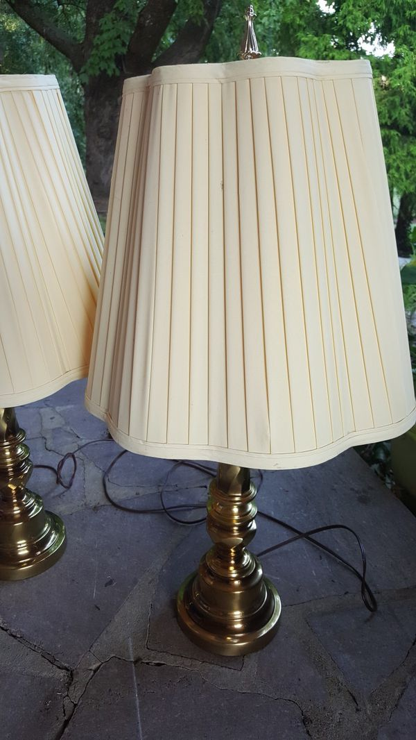 2 gold colored lamps both for $10