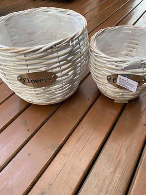 Pot basket for flower for Sale in Auburn, WA