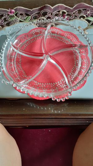 Vintage Candlewick 5 part tray. Depression glass. for Sale in Kingsley, PA