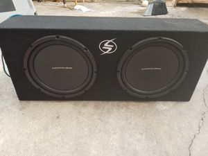 Lightning Audio 12 inch subwoofer + amp w/bass controller for Sale in Santa Ana, CA