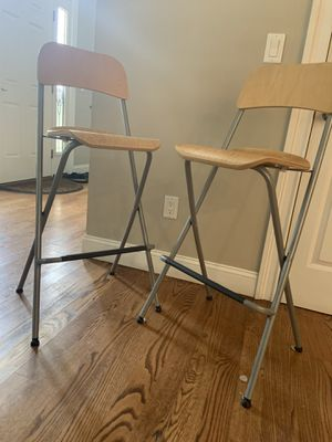 Foldable bar stools with backrest for Sale in Staten Island, NY
