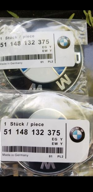Brand New set of 2 BMW logo emblems fits all BMW rims 335i 535i 328i 528i x5 m3 m5 530i 330i for Sale in South Gate, CA