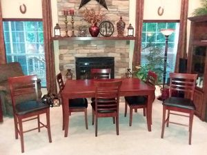 Kitchen Table with 4 Chairs and 2 Counter Stools for Sale in Bristow, VA