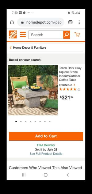 Brand New stone indoor/outdoor coffee table for Sale in Atlanta, GA