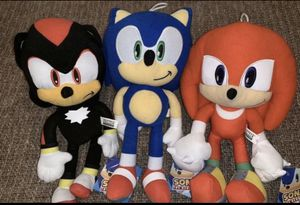 Sonic Plush set of 3 brand new with tags for Sale in Corona, CA