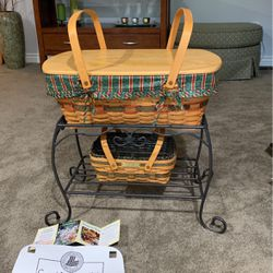 Longaberger Basket Stand/Table And Two Baskets for Sale in Bothell,  WA
