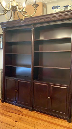 2 section bookcase - Solid wood for Sale in Brooklyn, NY
