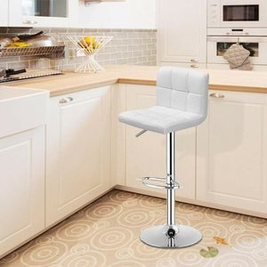 PC Bar Stool Swivel Adjustable PU Leather Barstools Bistro Pub Chair White HW65633WH TR 6 RETAIL 65 for Sale in Fontana, CA