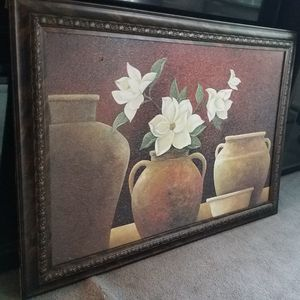 Beautiful Huge Framed Flower and Pots Painting for Sale in Green Brook Township, NJ