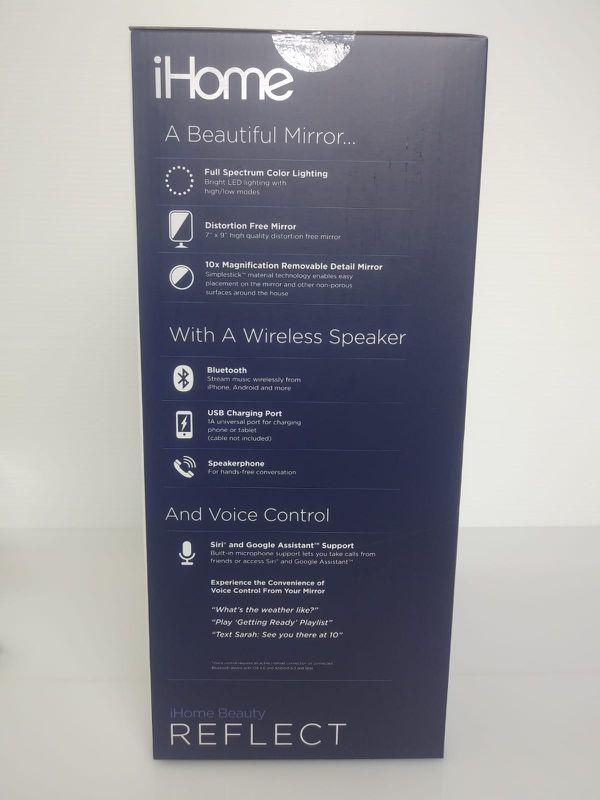 ihome vanity makeup mirror speaker