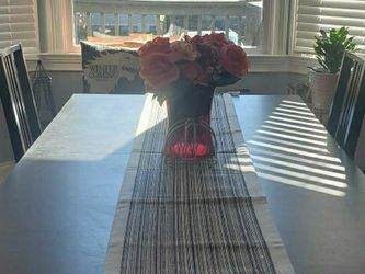 Black Ikea Extendable Kitchen Table and 4 Chairs (69-102 Inches) for Sale in Nashville,  TN