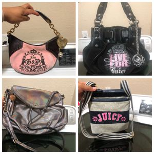 4 juicy couture purses all $30 for Sale in Fort Worth, TX