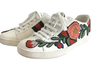 Authentic White Gucci Embroidered Floral Sneakers for Sale in Kennewick, WA